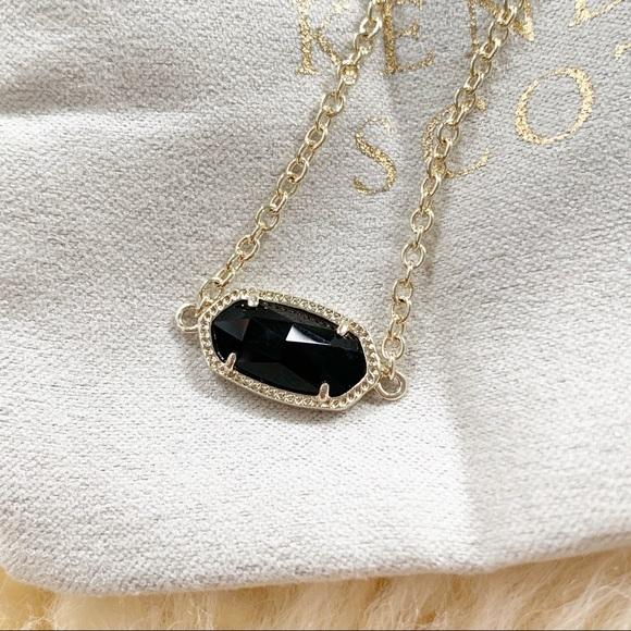 f642631b573 Kendra Scott Jewelry | Elaina Gold Chain Bracelet In Black Opaque ...